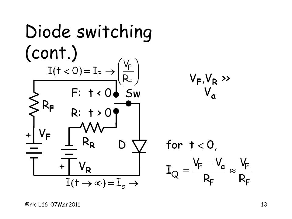 Diode switching (cont.)