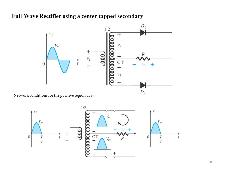 Full-Wave Rectifier using a center-tapped secondary