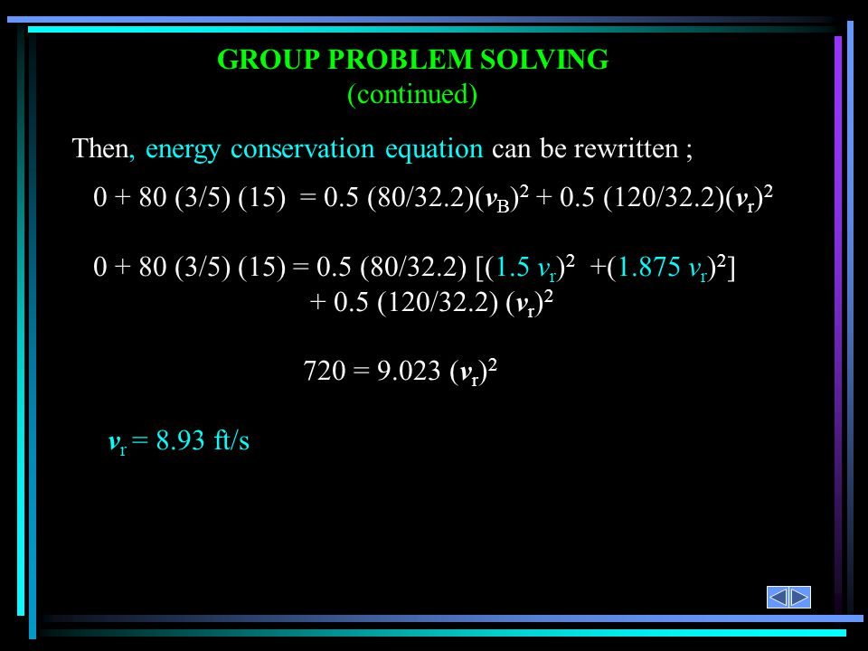 GROUP PROBLEM SOLVING (continued)