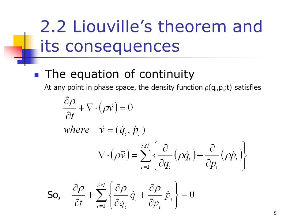 2.2 Liouville's theorem and its consequences