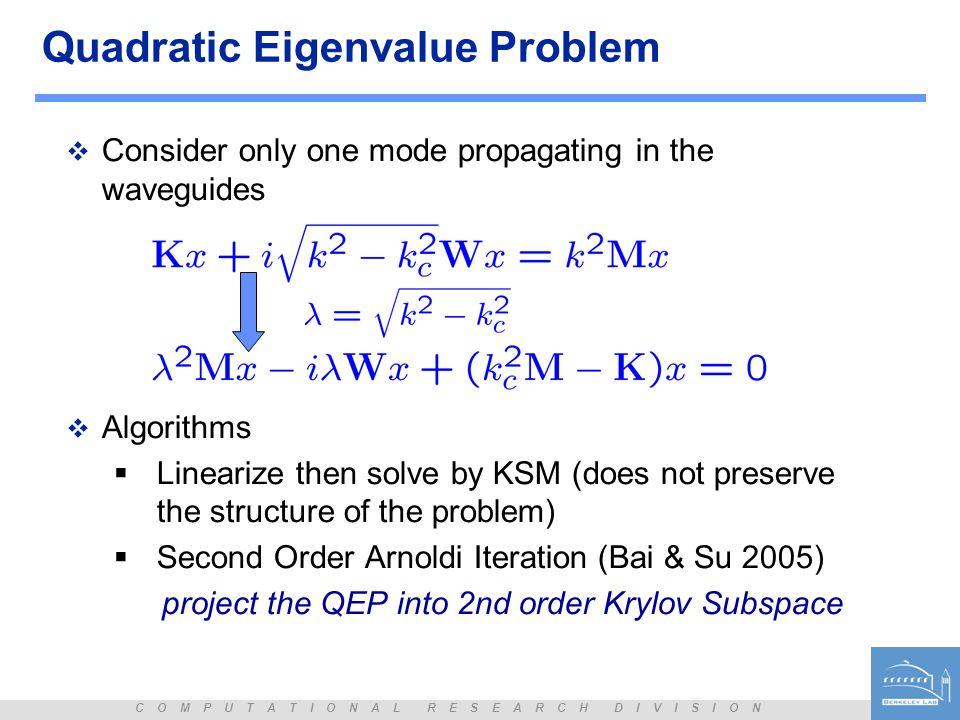 Quadratic Eigenvalue Problem