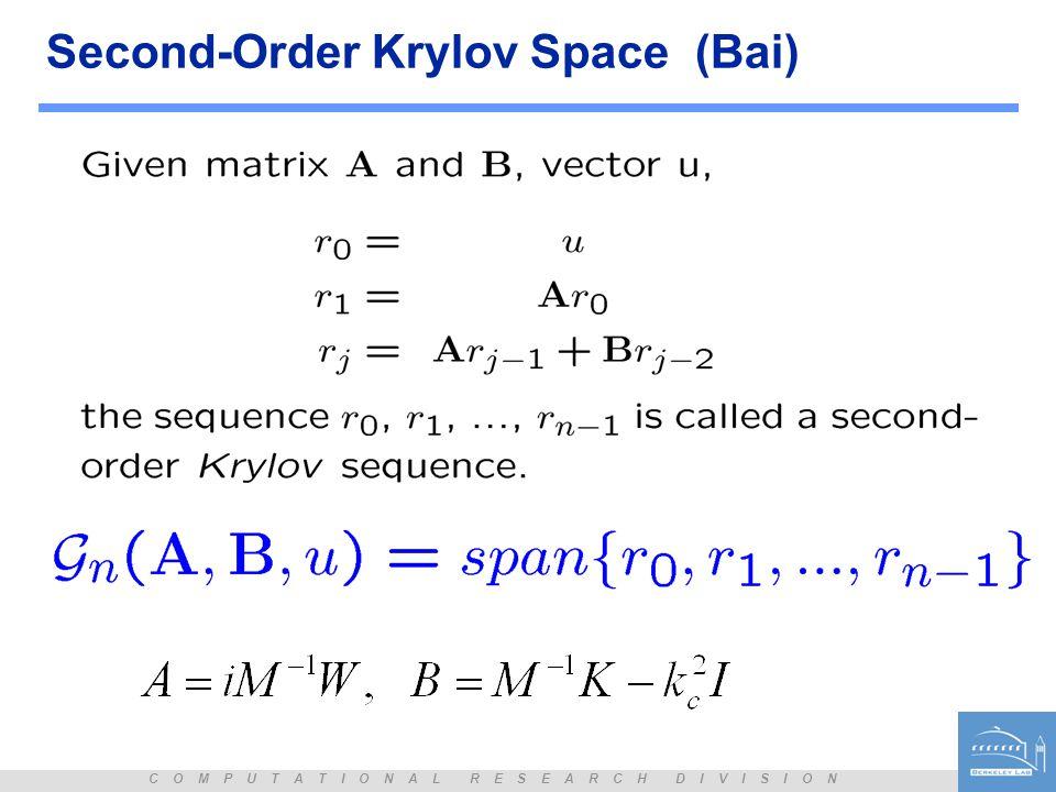 Second-Order Krylov Space (Bai)
