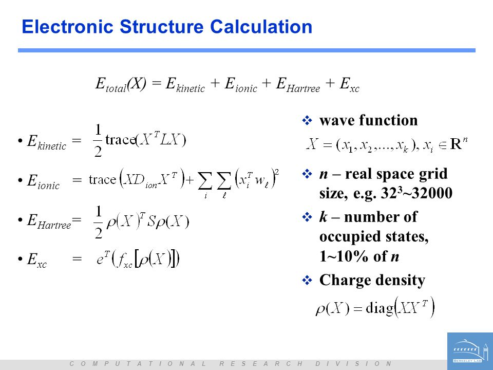Electronic Structure Calculation