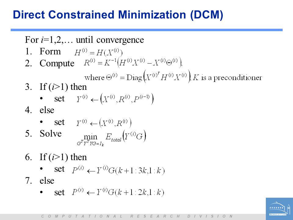 Direct Constrained Minimization (DCM)