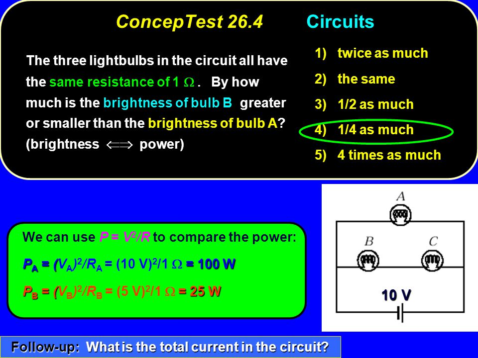 Follow-up: What is the total current in the circuit