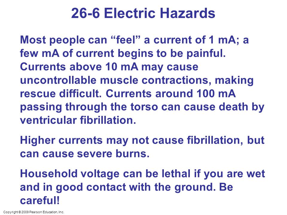 26-6 Electric Hazards