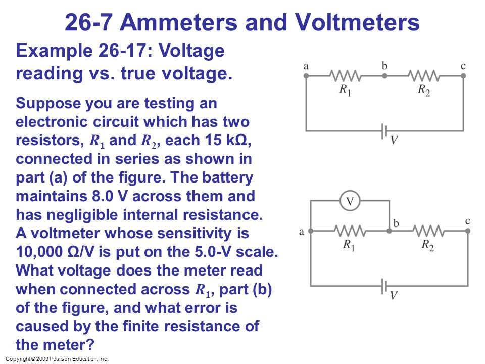 26-7 Ammeters and Voltmeters