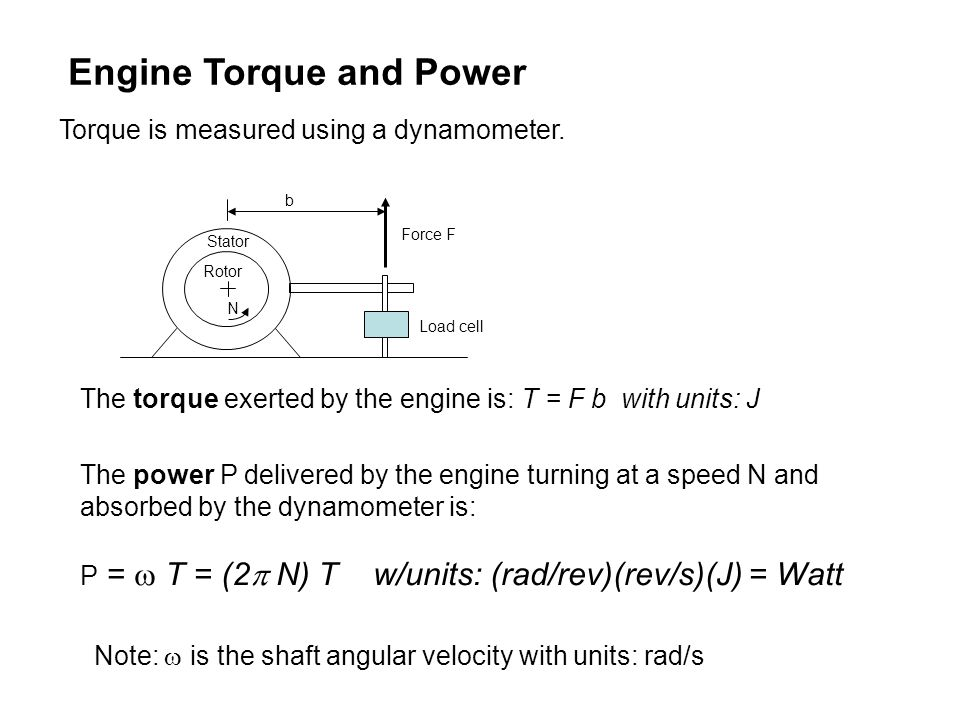 Engine Torque and Power