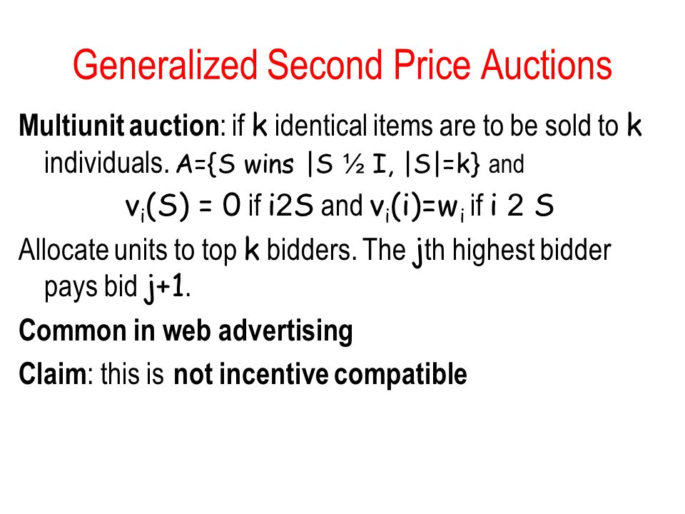 Generalized Second Price Auctions