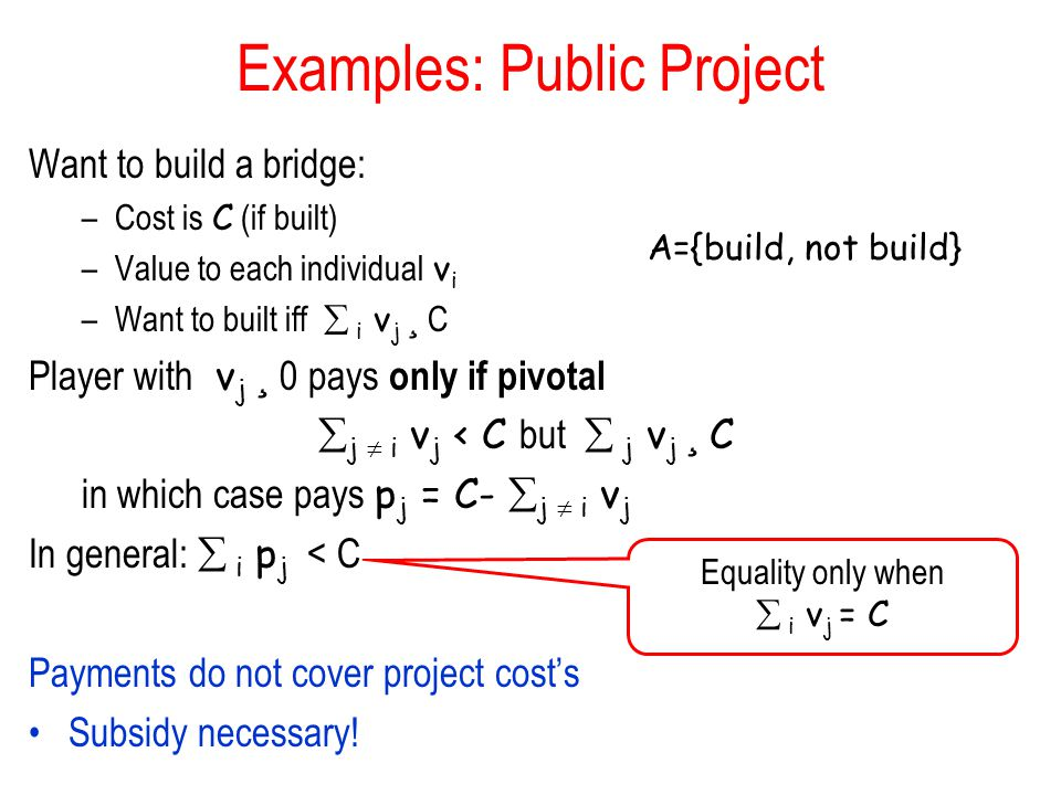 Examples: Public Project