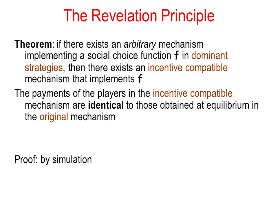 The Revelation Principle