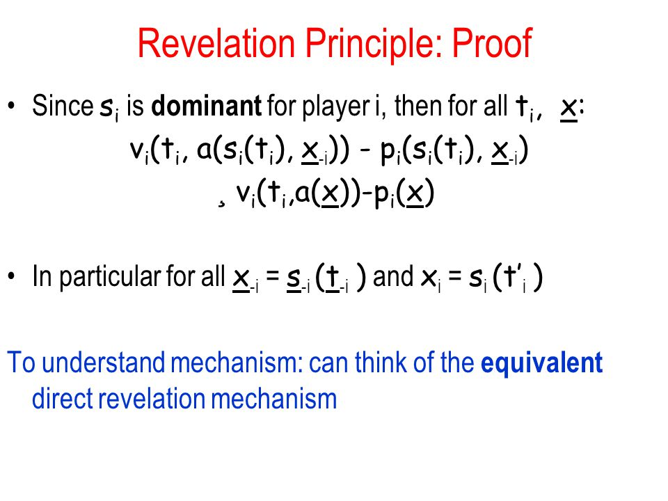 Revelation Principle: Proof