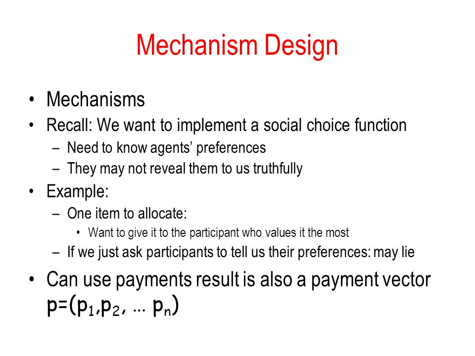 Mechanism Design Mechanisms