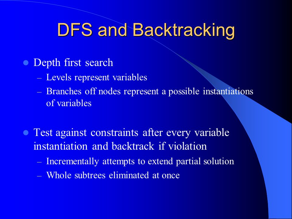 DFS and Backtracking Depth first search