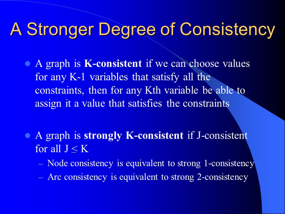 A Stronger Degree of Consistency