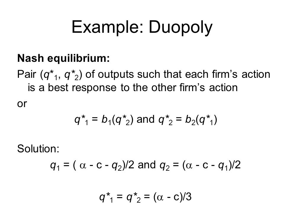 q1 = ( a - c - q2)/2 and q2 = (a - c - q1)/2