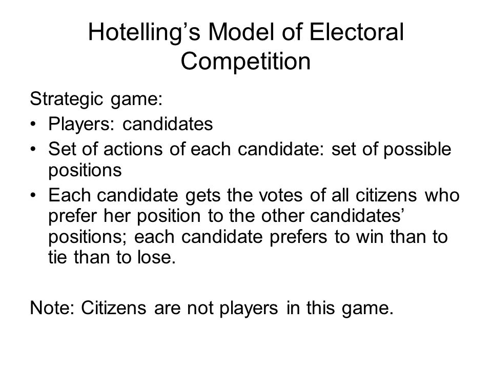Hotelling's Model of Electoral Competition