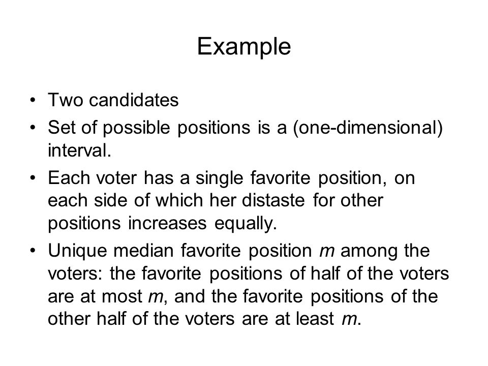 Example Two candidates