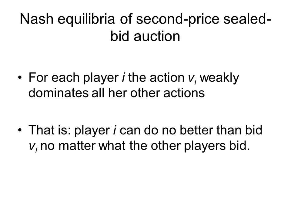 Nash equilibria of second-price sealed-bid auction