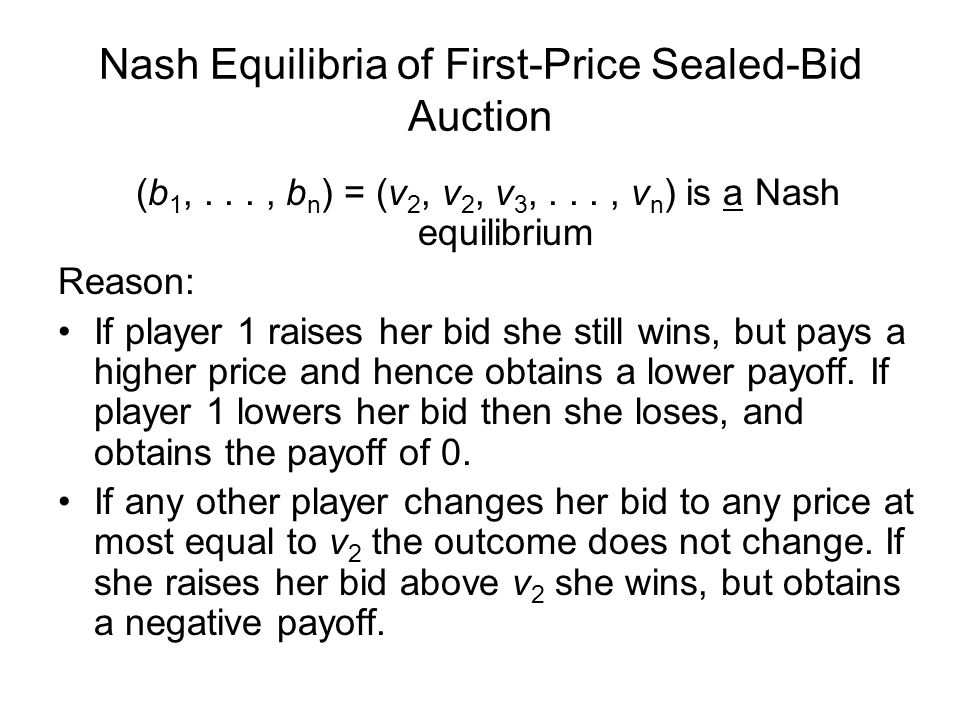 Nash Equilibria of First-Price Sealed-Bid Auction