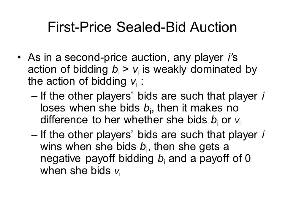 First-Price Sealed-Bid Auction