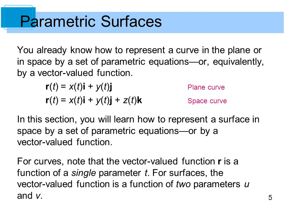 Parametric Surfaces