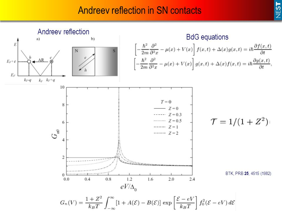 Andreev reflection in SN contacts