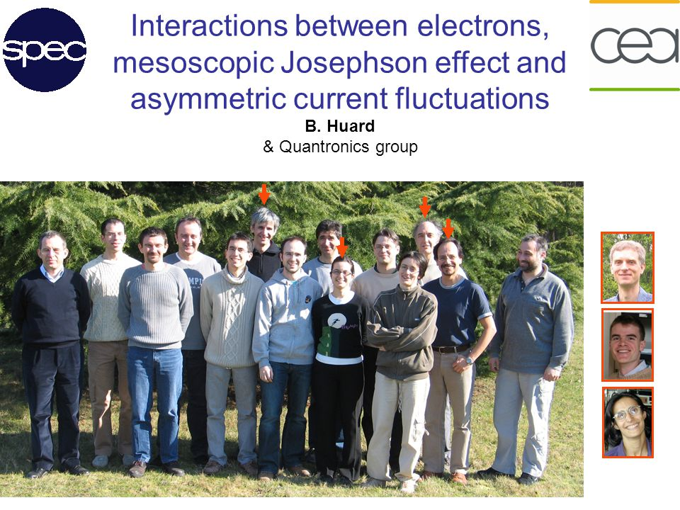 Interactions between electrons, mesoscopic Josephson effect and