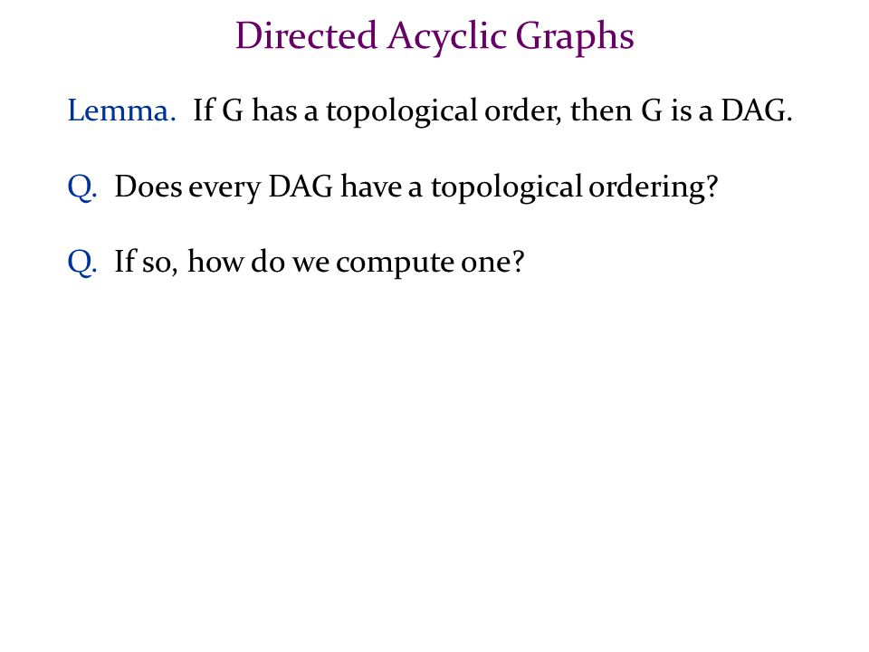 Directed Acyclic Graphs