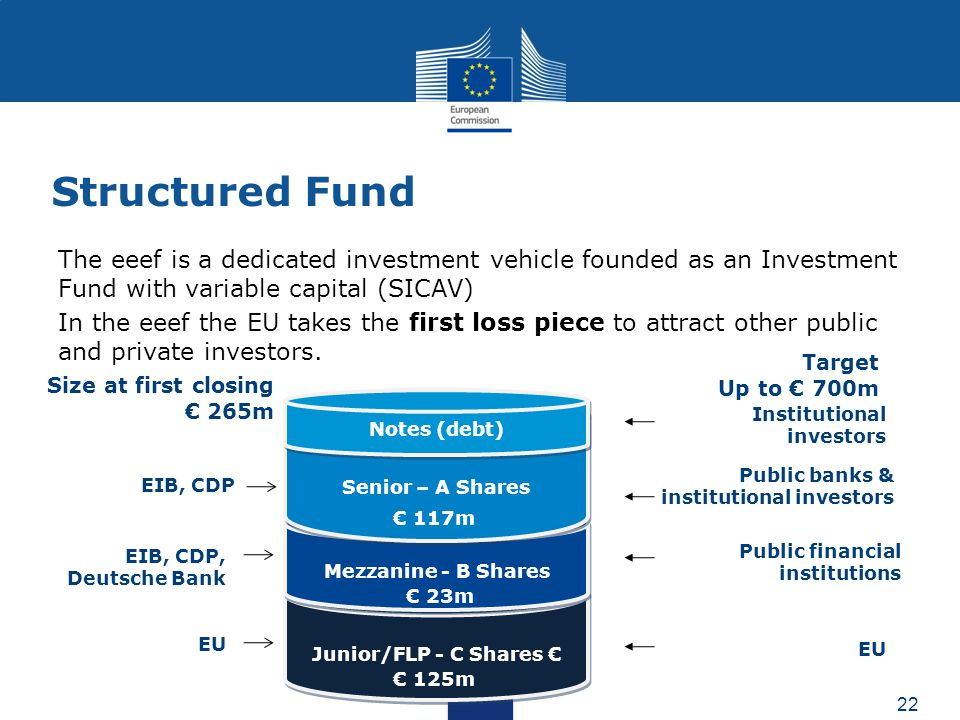 Structured Fund The eeef is a dedicated investment vehicle founded as an Investment Fund with variable capital (SICAV)