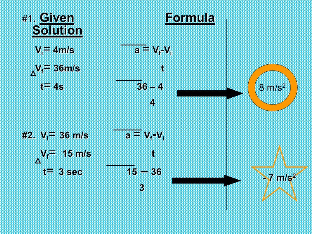 #1. Given Formula Solution