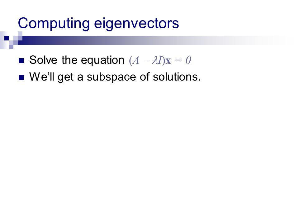 Computing eigenvectors