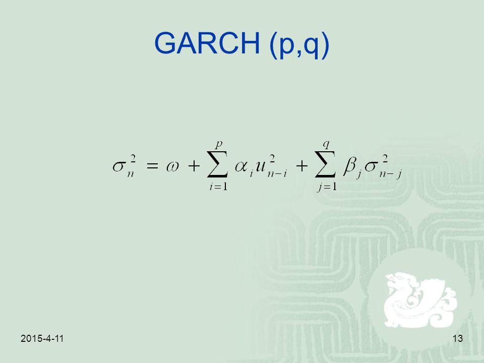 GARCH (p,q) 2017/4/10