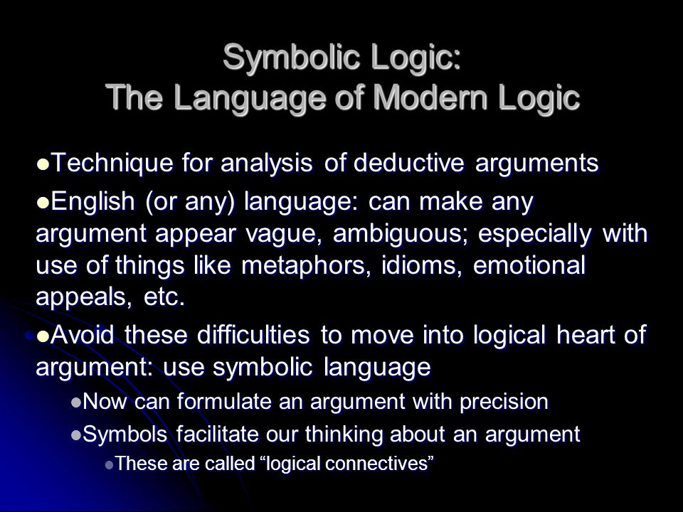 Symbolic Logic The Language Of Modern Logic Ppt Video Online Download