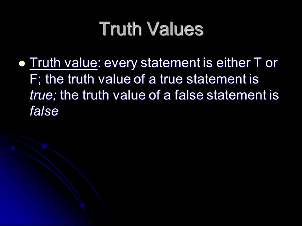 Truth Values