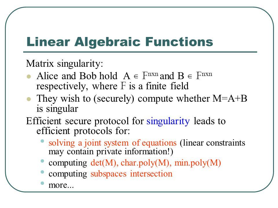 Linear Algebraic Functions