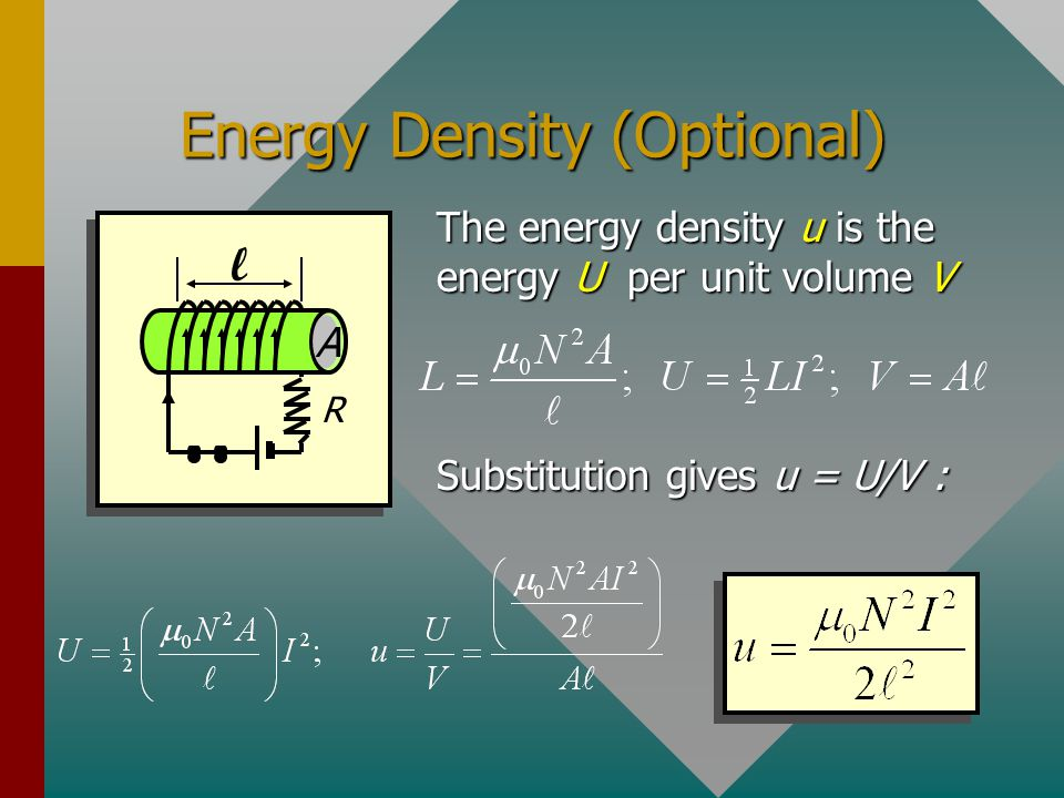 Energy Density (Optional)