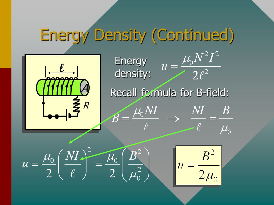 Energy Density (Continued)