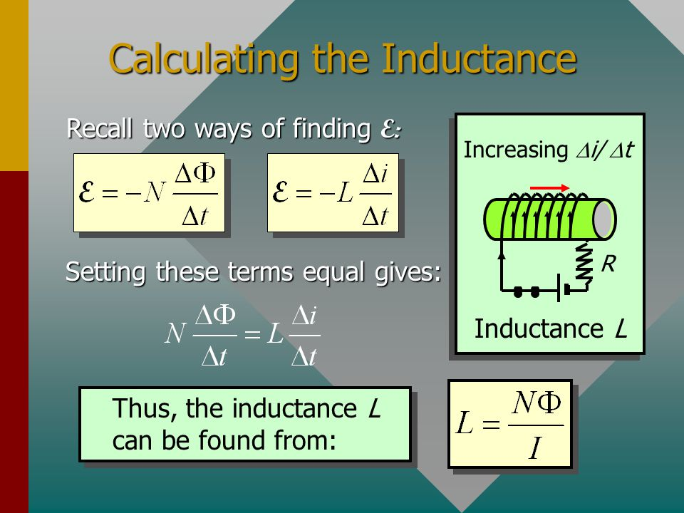 Calculating the Inductance