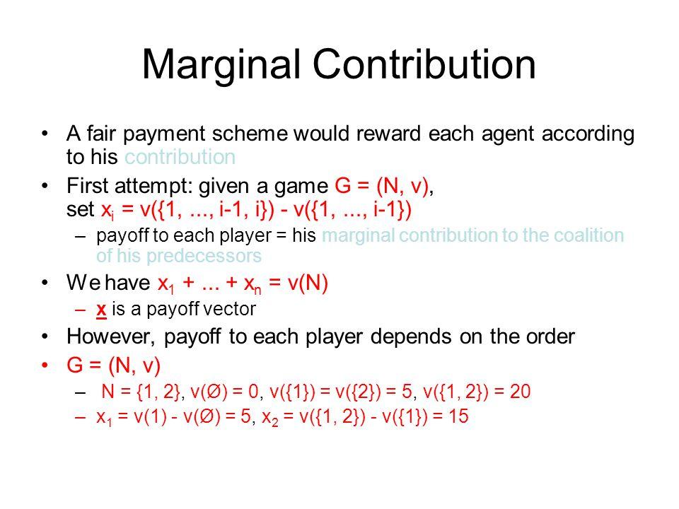 Marginal Contribution