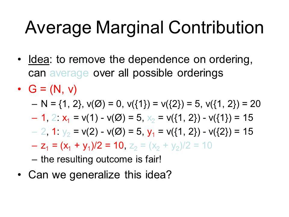 Average Marginal Contribution
