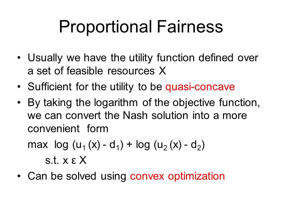 Proportional Fairness