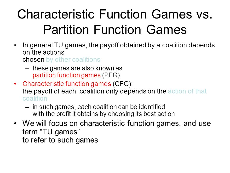 Characteristic Function Games vs. Partition Function Games