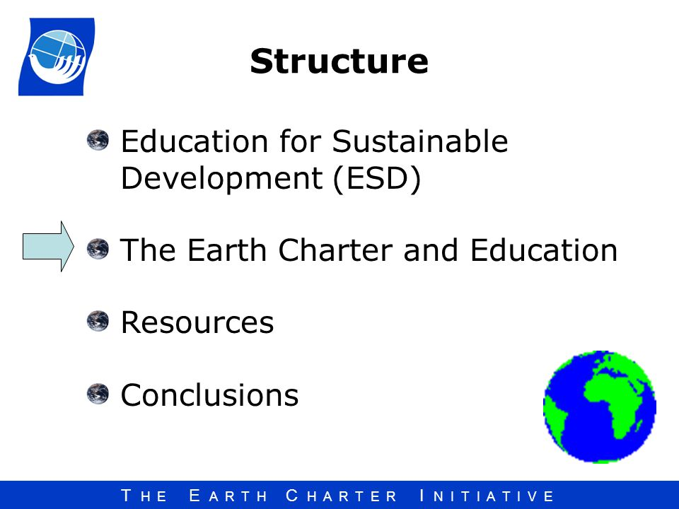 Structure Education for Sustainable Development (ESD)