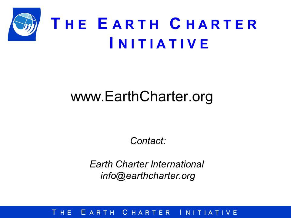 Earth Charter International info@earthcharter.org