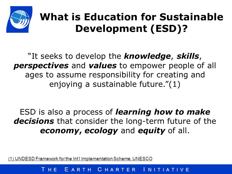 What is Education for Sustainable Development (ESD)