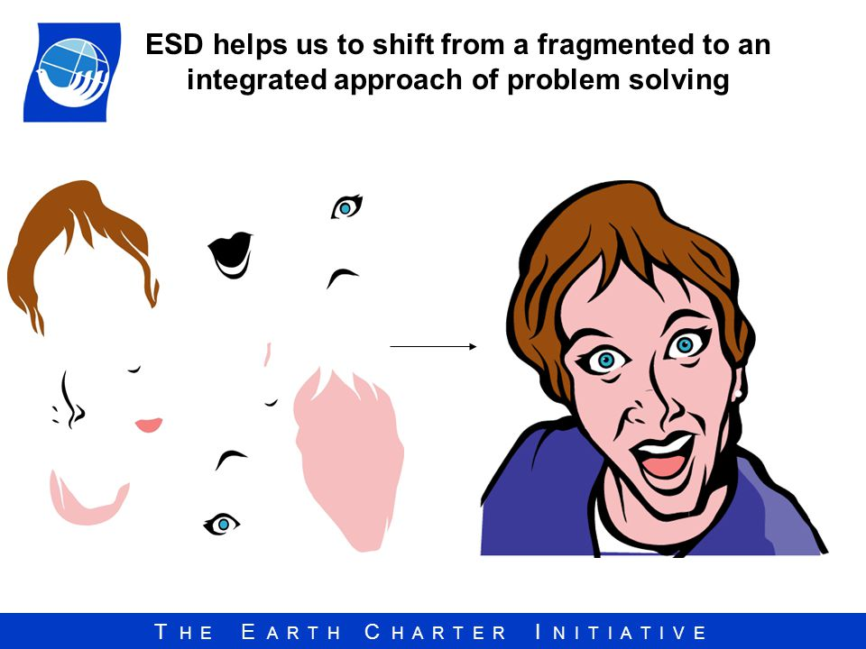 ESD helps us to shift from a fragmented to an integrated approach of problem solving