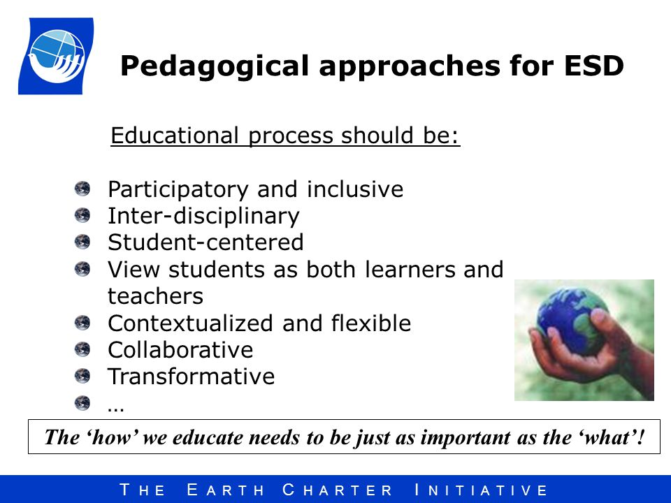 Pedagogical approaches for ESD
