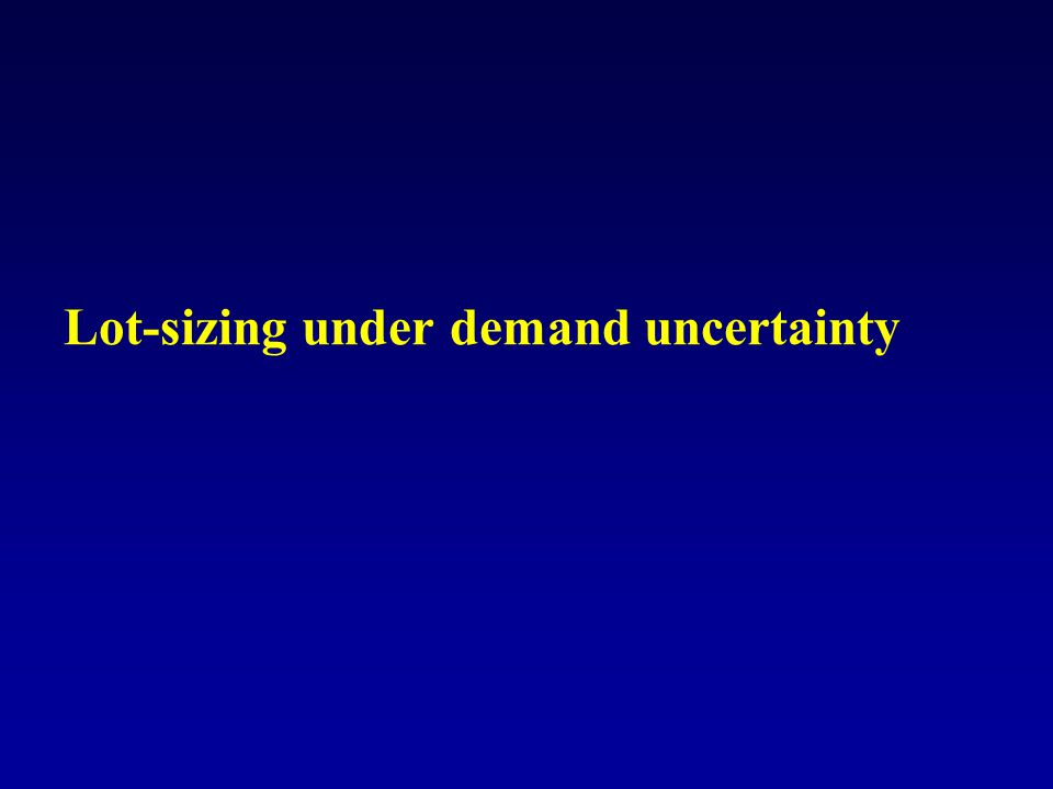 Lot-sizing under demand uncertainty
