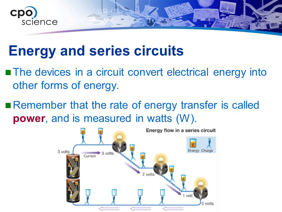 Energy and series circuits